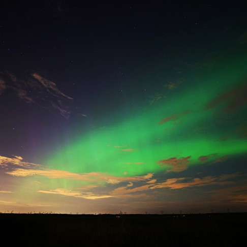 Auroras formation near Montreal due to the biggest solar storm of 2017
