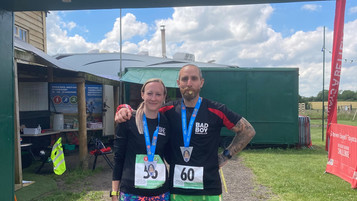 Another Marathon in the Bag for Liz and Steve