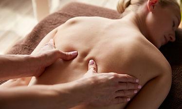deep tissue massage, back massage,