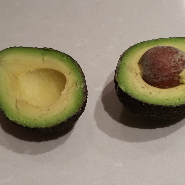 Instagram - Ah perfection!! Something about a perfectly cut avocado that I love!