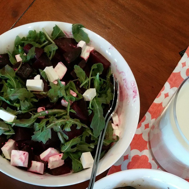 Instagram - This amazing beetroot, fetta and rocket salad with balsamic vinegar