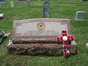 Sara Carter's grave