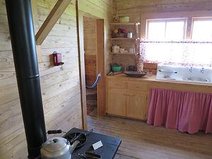 The kitchen in Johnny Cash's boyhood hom
