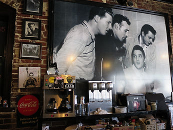 Wall in Taylor's diner