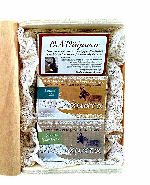 3 donkey's milk soaps