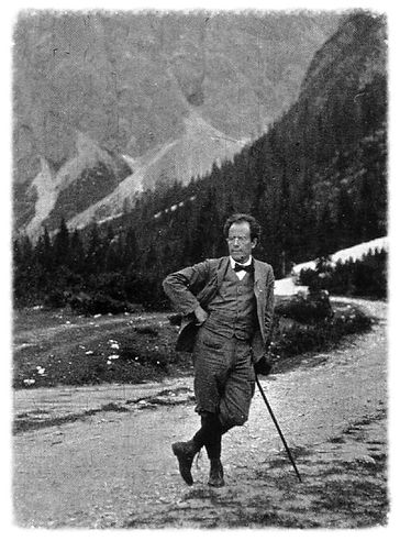 Mahler hiking in the Alps. Life Ain't Kind.
