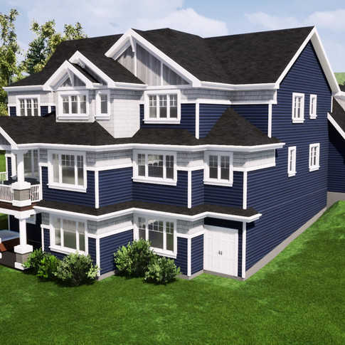 Fly-by video of a waterfront craftsman home