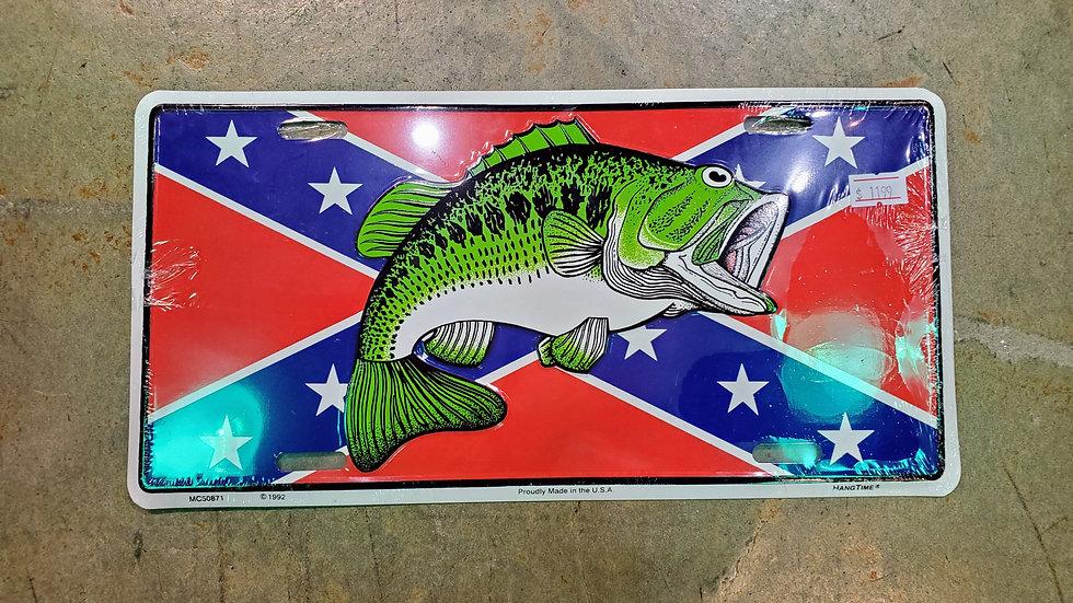 Rebel Bass License Tag