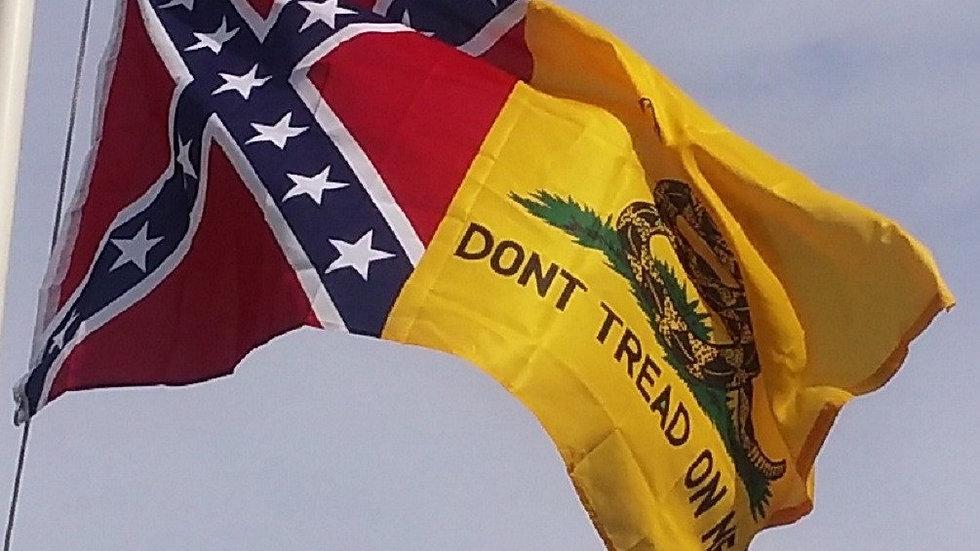 3x5 Confederate Battle & Gadsden Flag