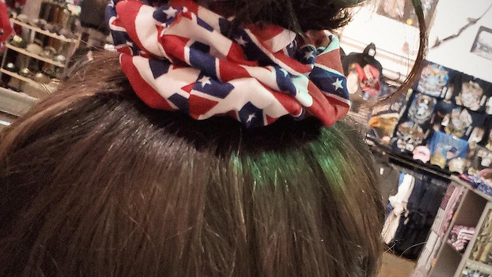 Rebel Flag Scrunchie