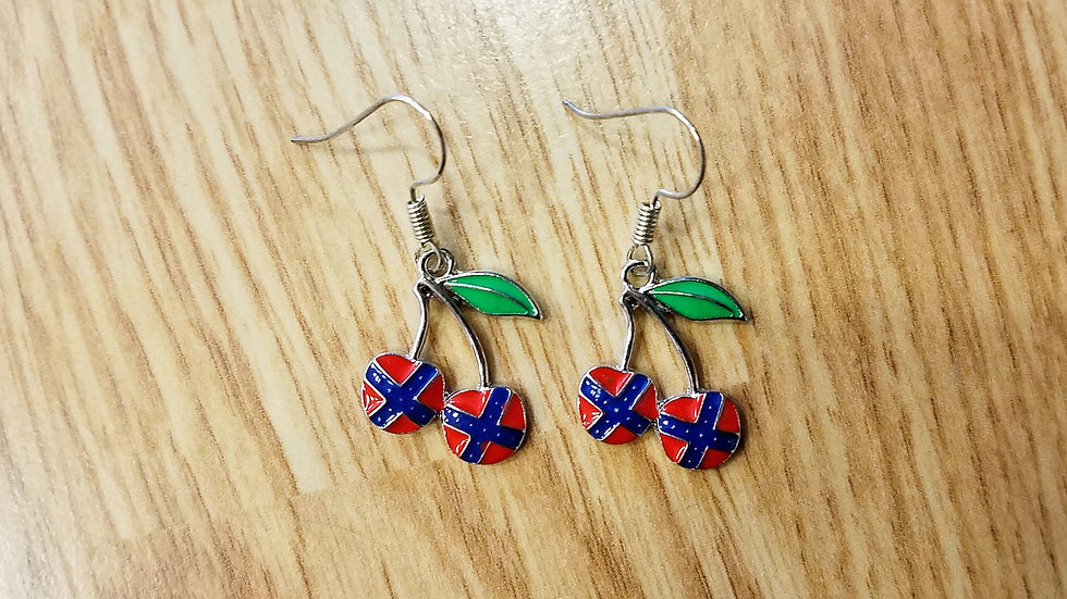 Confederate Cherry Earrings