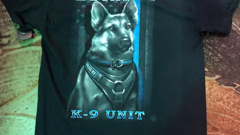 Loyalty K-9 Unit Blue Line Tee