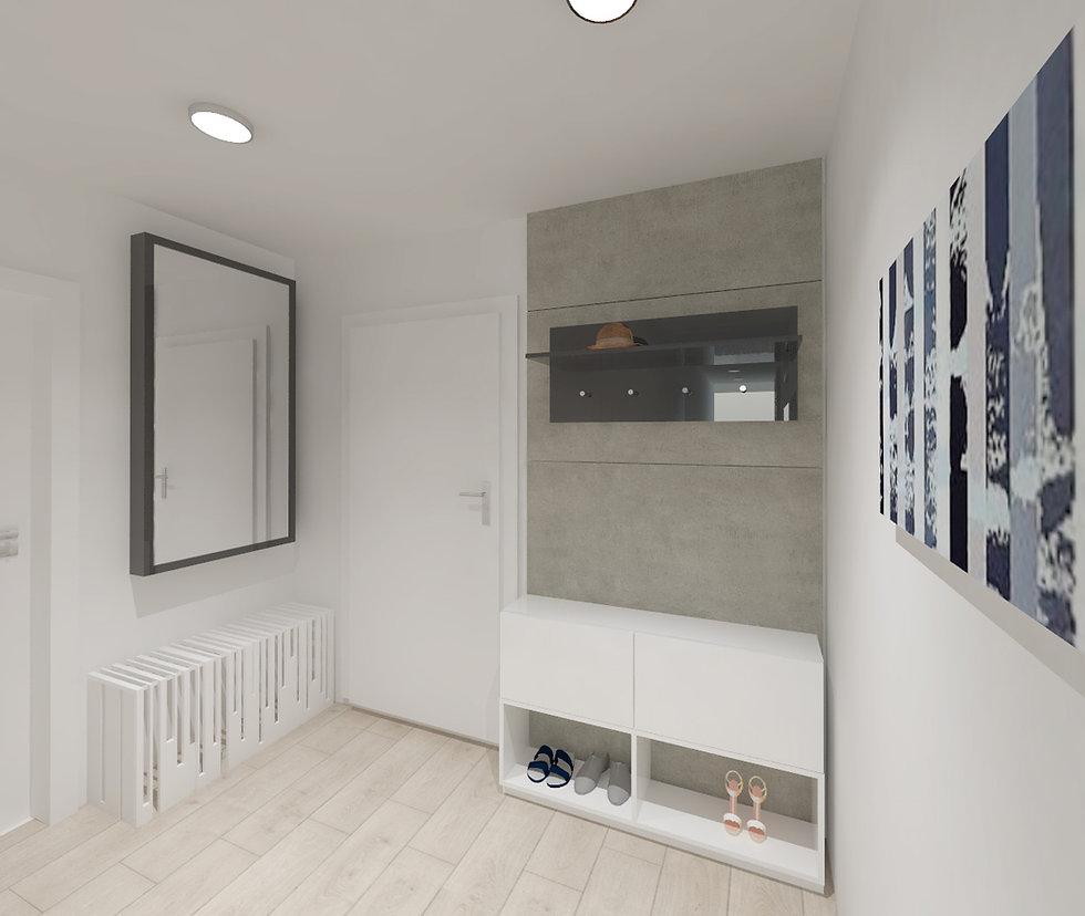 z2, z2 architekti, chodba, minimalistic design, predsieň, blac and white
