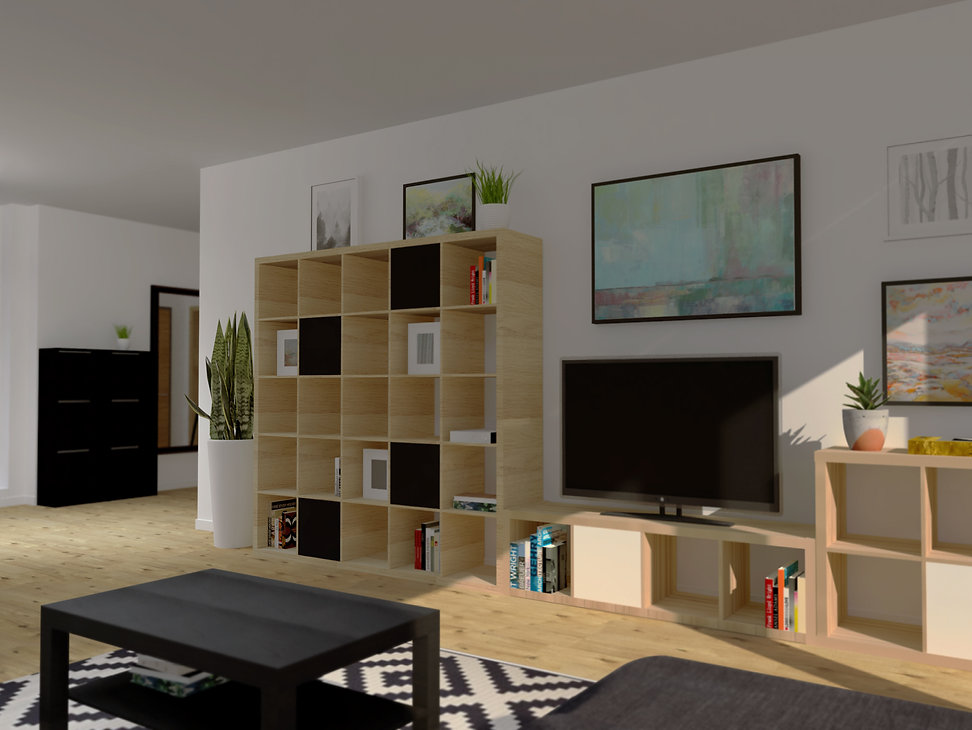 obyvacka, cierno biela obyvacka, low cost living room, z2 architekti, living room, black and white living room