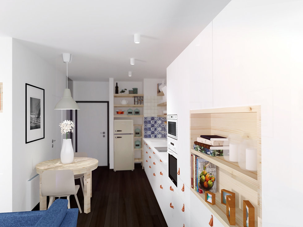 kitchen, kuchyňa, interiér, majolika, rako, slnečnice, dizajn, Interior dizajn, slovak, apartment