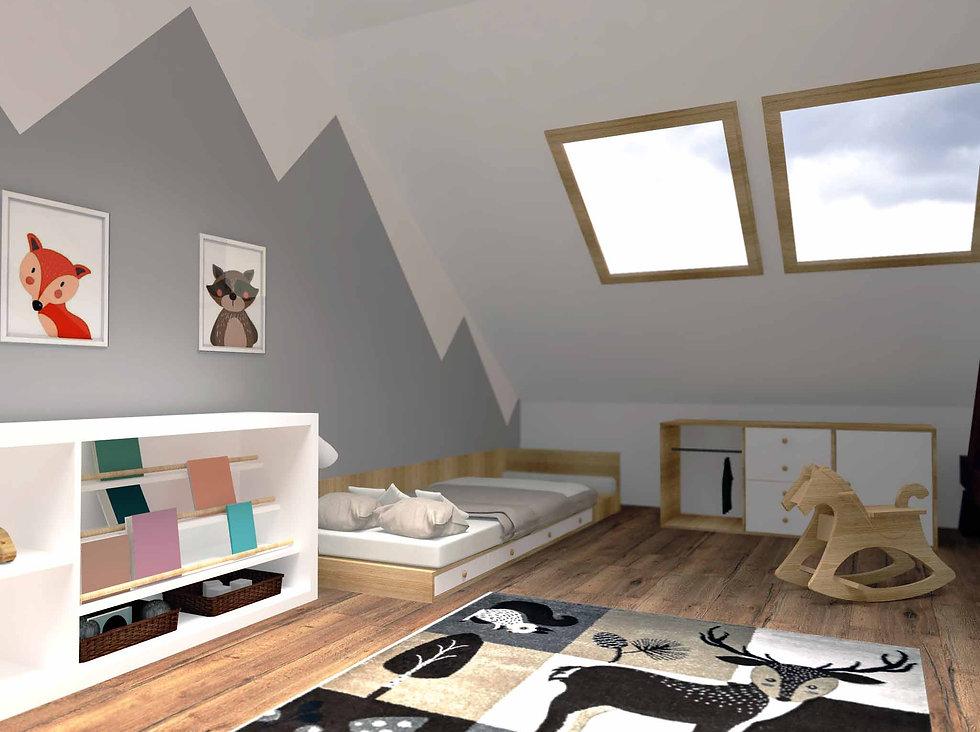 montessori detská izba, montessori room, z2 architekti