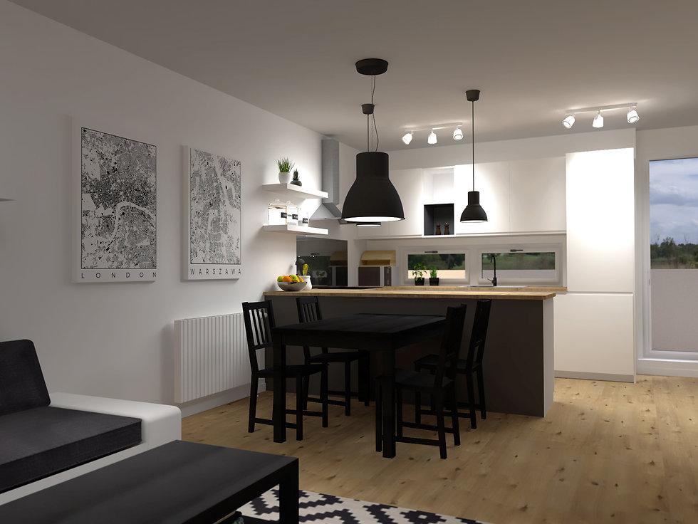 cierno biela kuchyna,z2 architekti,kuchyna, black and white kitchen