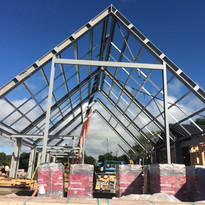 7. Steel framing in place on the Boerder