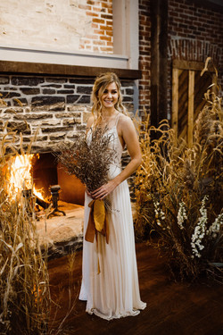 Bride at the fire