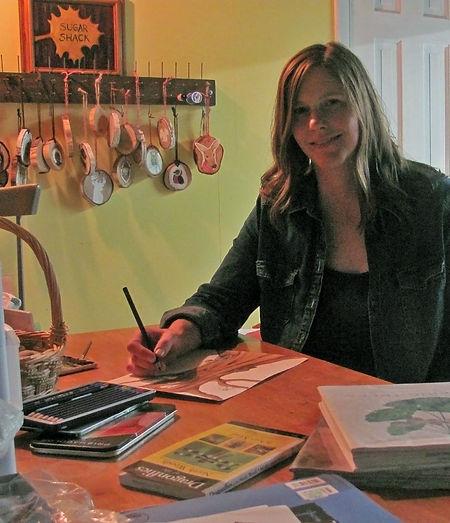 Jaimie Schweitzer in her studio