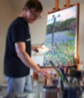 David Schweitzer in his studio