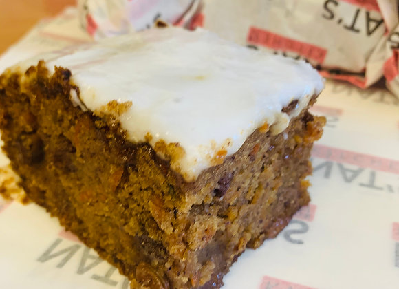 Vegan, Gluten & Soya Free Carrot Cake Slab