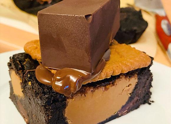 Vegan XL Biscoff Brownie