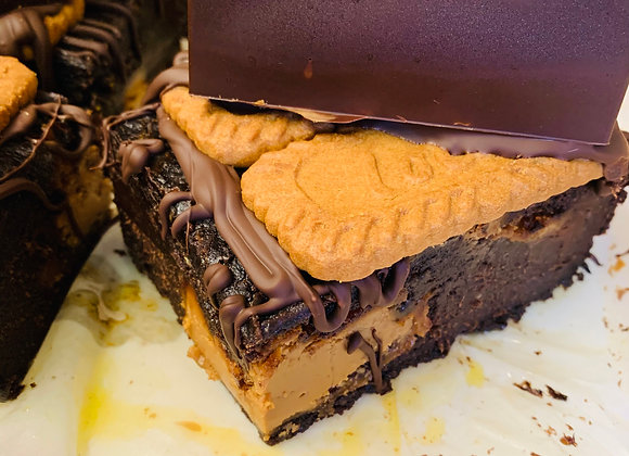 Vegan XL Biscoff Brownie