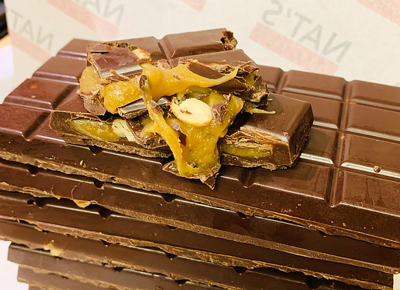 Vegan, Gluten & Soya Free Caramel and Salted Nuts Chocolate Bar
