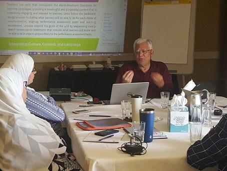 ALEFE team attends training on STARTALK principles