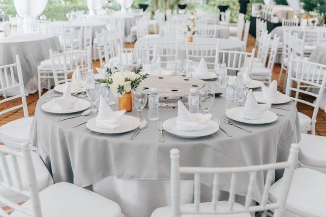 Grey table overlays