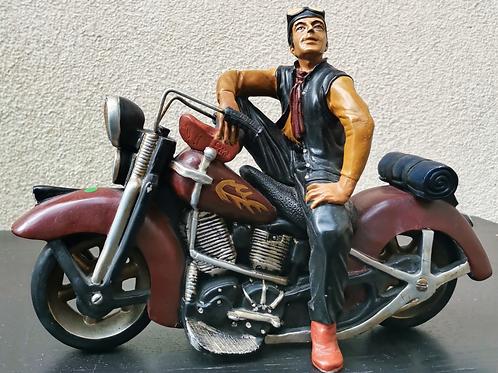 Figurine Motocycle Harley Davidson & son Motard
