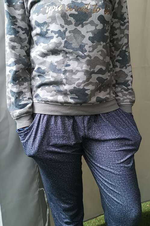 pantalon fille sarouel + sweet capuche milit