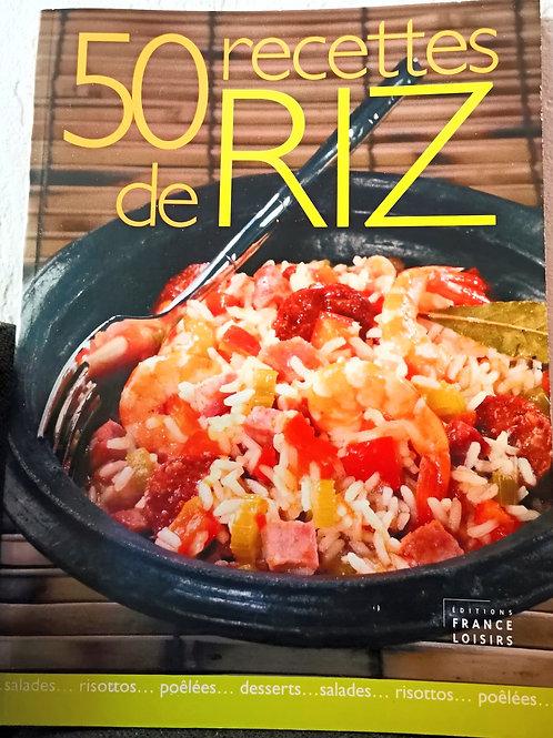 50 Recettes de Riz - Livre de recettes de cuisine