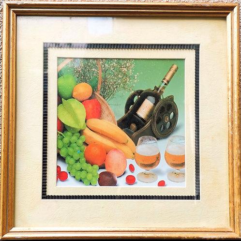 Tableau de décoration Panier de Fruits & Cognac