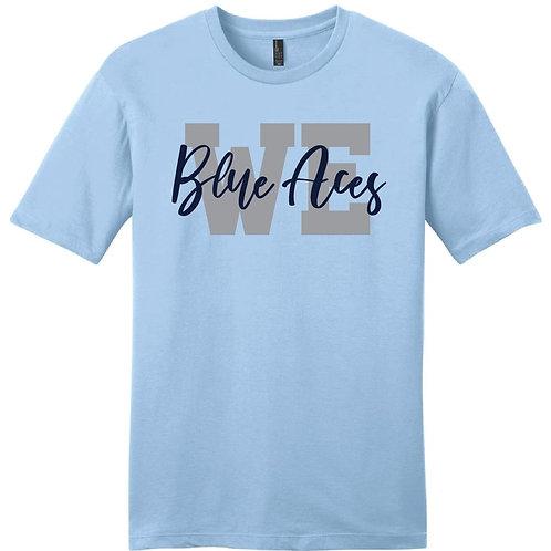 Light Blue T-Shirt - Script Initials