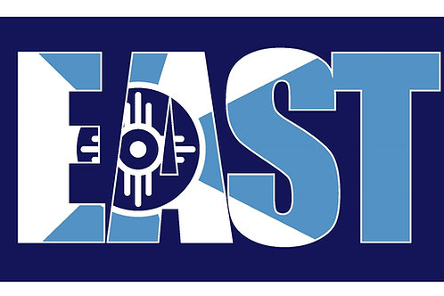 'East' Wichita Flag Button