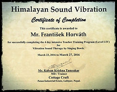 František Horváth sound healing