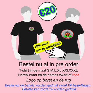 T-shirt met logo motorvrienden 50+