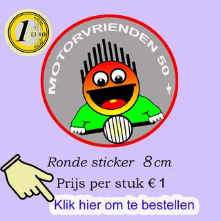 Ronde sticker 8cm