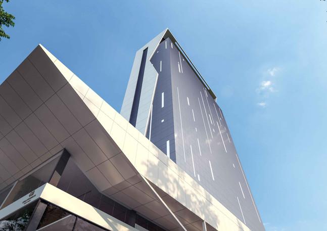 Vista de Baixo da Fachada - Office Design Cascavel