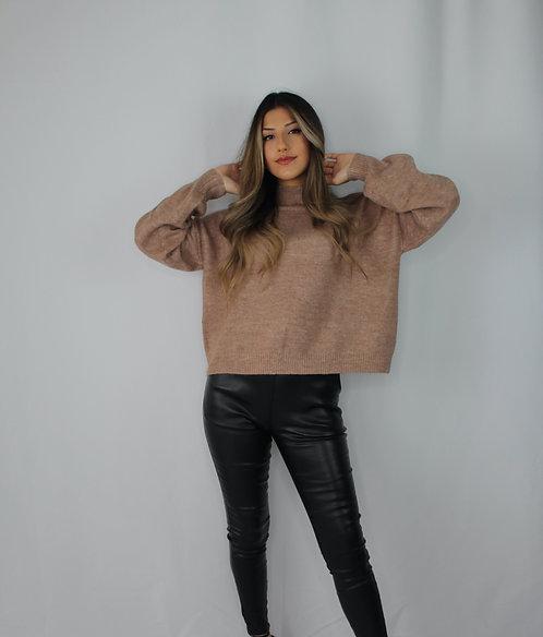 Amber Turtleneck Sweater - Mocha