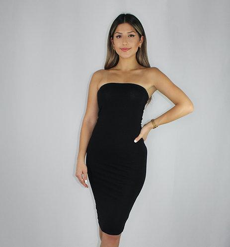 Elena Midi Tube Dress - Black