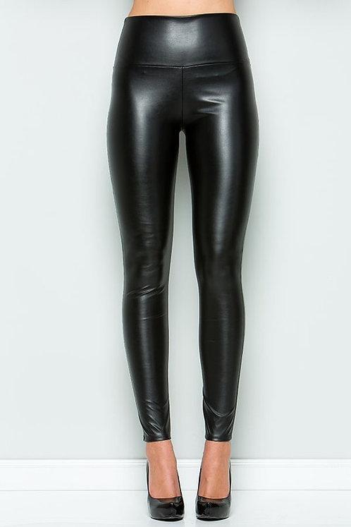 Amaya Faux Leather Leggings - Black