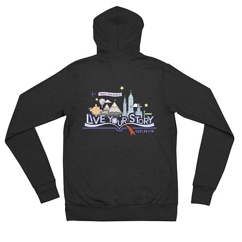 IMDP Revue Unisex zip hoodie
