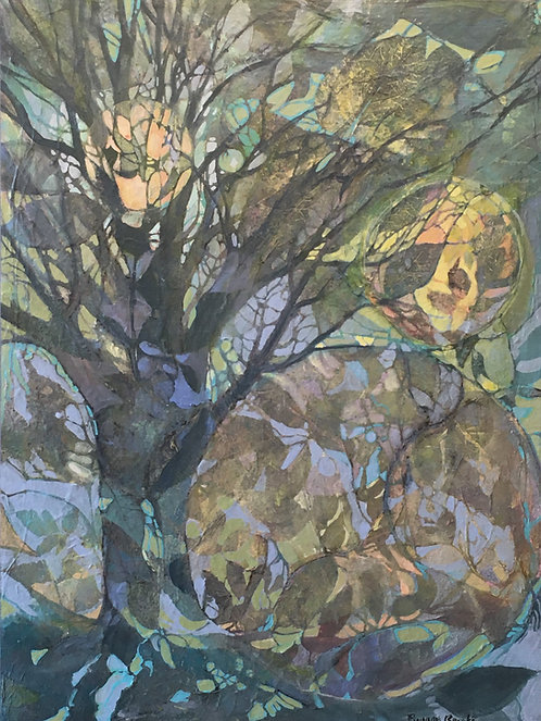 "Tree Cycles, 24x18"""
