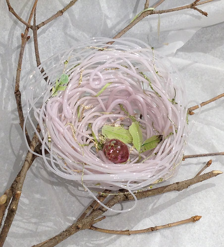 Glass nest, pink