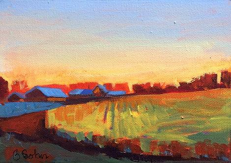 Sunset on Highway 7