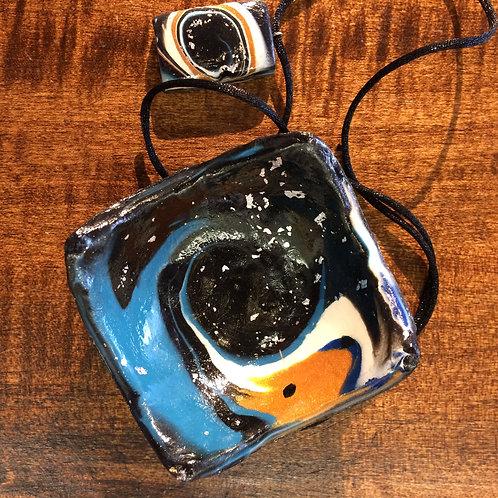 Galaxy Bowl and Pendant #7
