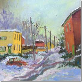 """Snowy Day - Hintonburg, 12x12"""""""